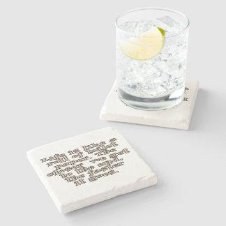 La vida es como un rollo del papel higiénico… posavasos de piedra