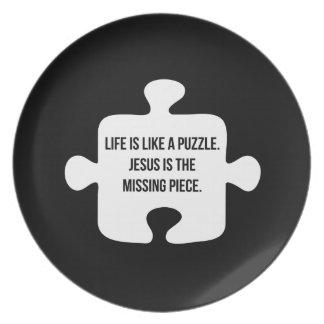 La vida es como un rompecabezas platos de comidas