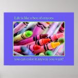 La vida es como una caja de creyones impresiones