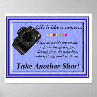 La vida es como una cámara póster