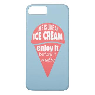 La vida es como una cita del lema del helado funda iPhone 7 plus