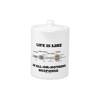 La vida es como una respuesta todo o nada
