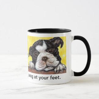 La vida es completa con un perro en sus pies