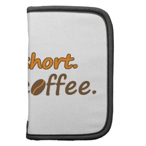 La vida es corta. Café de la bebida. (© Mira) Planificador