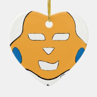 La vida es corta, juega más adorno navideño de cerámica en forma de corazón