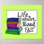 La vida es corta. Lea rápidamente Impresiones