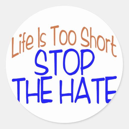 La vida es corta pegatina redonda