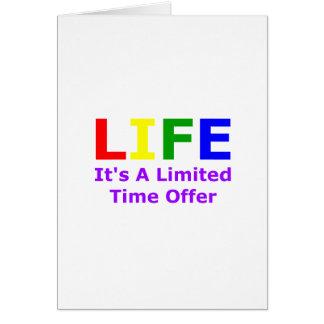 La vida es corta tarjetas