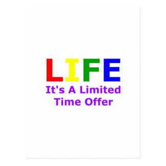 La vida es corta postal