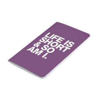 La vida es corta y así que es yo cita divertida cuadernos grapados