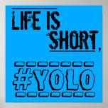 La vida es corta, YOLO Póster