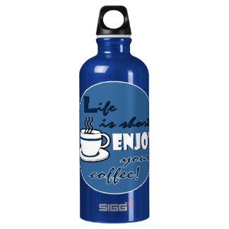 La vida es cortocircuito goza de su café - azul