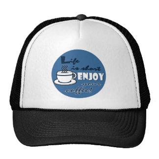 La vida es cortocircuito goza de su café - azul gorras de camionero