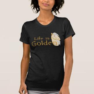 La vida es de oro camisetas