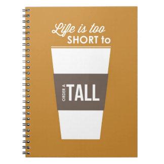 La vida es demasiado corta a Oder al tema alto del Notebook