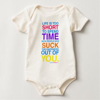 La vida es demasiado corta traje de bebé