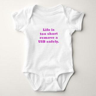 La vida es demasiado corta quitar USB con Body Para Bebé