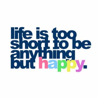 La vida es demasiado corta ser todo menos feliz escultura fotografica