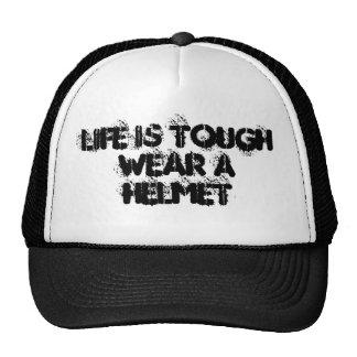 La vida es desgaste duro al gorra fresco del casco