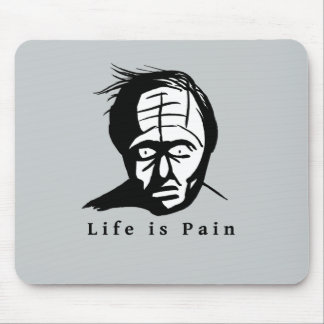 La vida es dolor - cojín de ratón oscuro del humor alfombrilla de ratón