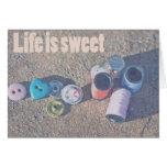 La vida es dulce tarjetas
