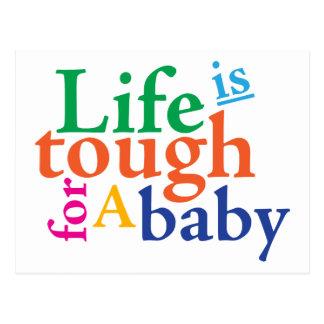 La vida es dura para un bebé postal