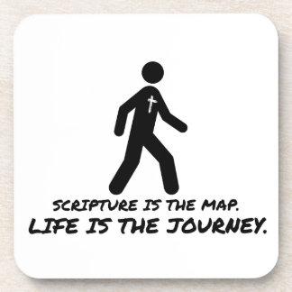 La vida es el cristiano del viaje posavasos