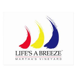 La vida es el viñedo de un Breeze_Paint-The-Wind_M Tarjeta Postal