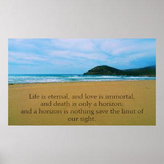 La vida es eterna, y el amor es POSTER inmortal