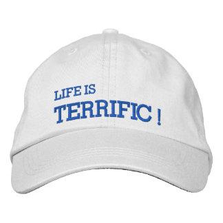 ¡La vida es FABULOSA! Gorra bordado Gorras De Béisbol Bordadas