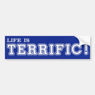 ¡La vida es FABULOSA! Pegatina para el parachoques Etiqueta De Parachoque