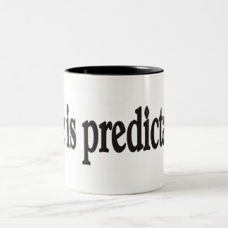 La vida es fiable taza de café