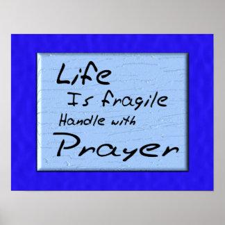 La vida es frágil póster