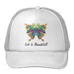 La vida es gorra hermoso de la mariposa