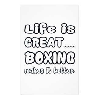 La vida es gran boxeo lo hace mejor papelería