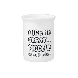 La vida es gran flautín lo hace mejor jarras para bebida
