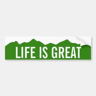 La vida es gran pegatina para el parachoques de pegatina para auto