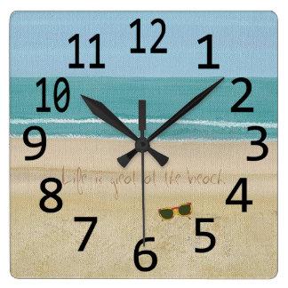 La vida es gran reloj de pared de las gafas de sol