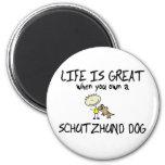 La vida es gran Schutzhund Imán De Frigorífico