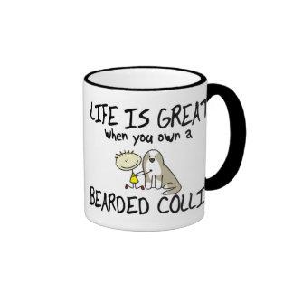 La vida es gran taza barbuda del collie (el cervat