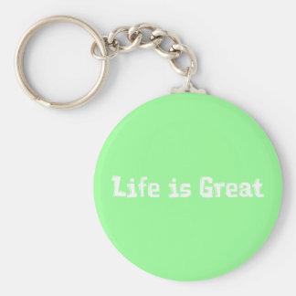 La vida es grandes regalos llavero redondo tipo pin