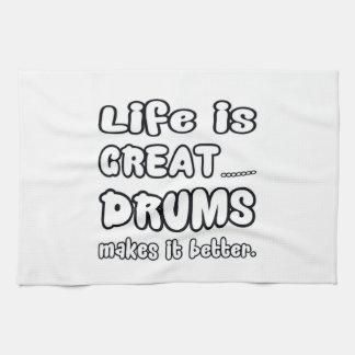 La vida es grandes tambores lo hace mejor toallas