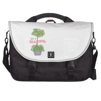 La vida es hermosa bolsas de portátil