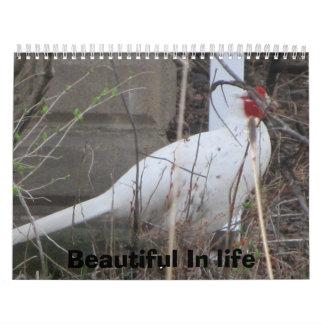 La vida es hermosa calendario de pared