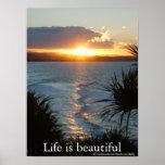 La vida es hermosa, cartel impresiones