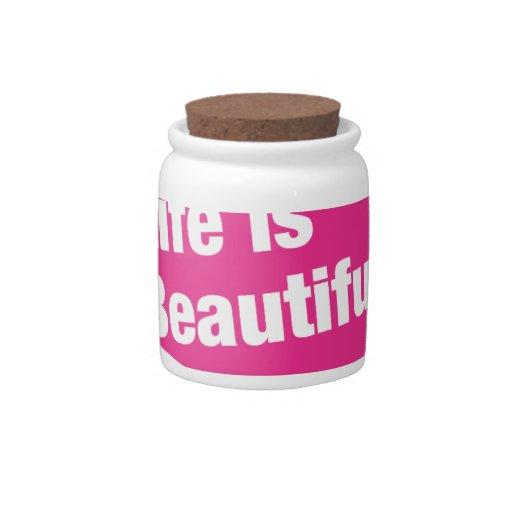 La vida es hermosa plato para caramelo