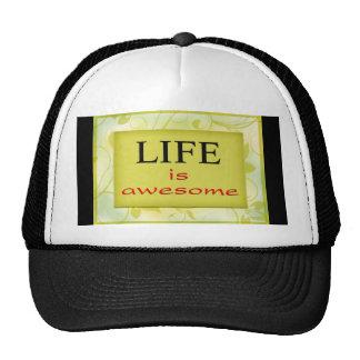 La vida es impresionante gorras de camionero