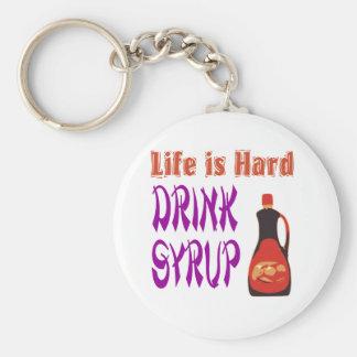 La vida es jarabe de la bebida dura llavero redondo tipo pin