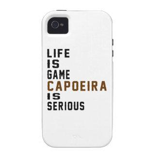 La vida es juego Capoeira es seria iPhone 4 Fundas