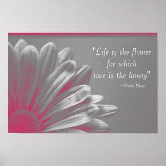 La vida es la flor posters